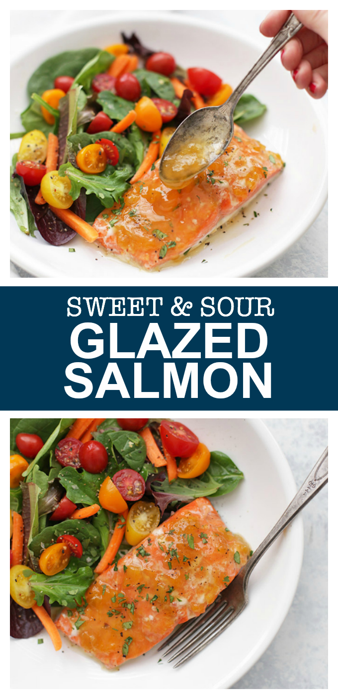 Simple Sweet and Sour Glazed Salmon - This is one of those easy recipes you can tuck in your back pocket any time you need something easy and healthy for dinner.
