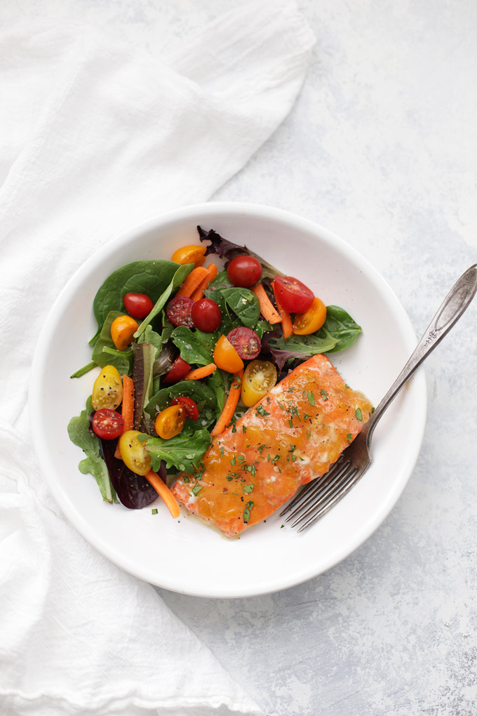 Sweet and Sour Glazed Salmon - this simple paleo dinner is one of our favorites. It's so fast and easy!