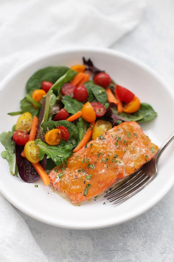 Sweet and Sour Glazed Salmon - This healthy dinner is on the table in minutes!