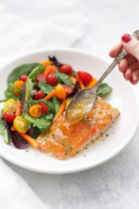 Simple Sweet and Sour Glazed Salmon