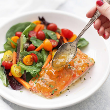 Sweet and Sour Glazed Salmon - Just a few ingredients in this yummy glaze.