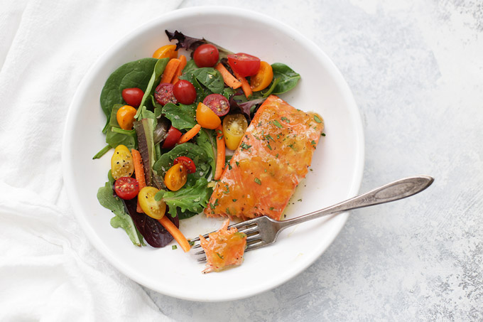 Simple Glazed Salmon - Just a few ingredients and you've got an amazing dinner!
