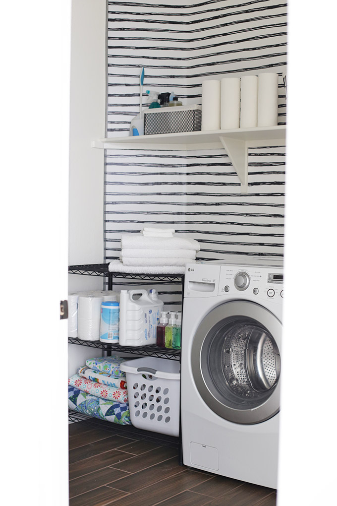 We gave our laundry room a little makeover. I love it!