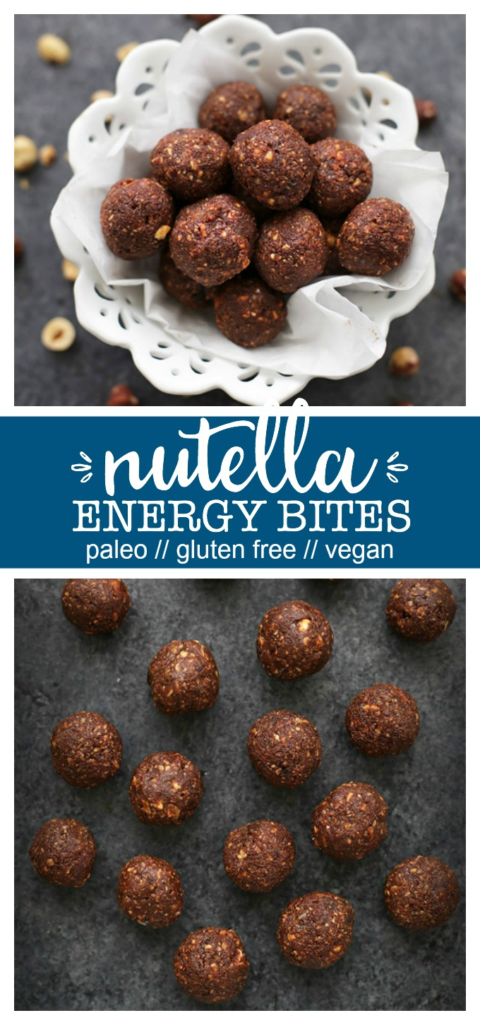 Nutella Energy Bites - These chocolate hazelnut energy bites have that lovely Nutella taste, made from healthy ingredients. The perfect healthy snack or treat!