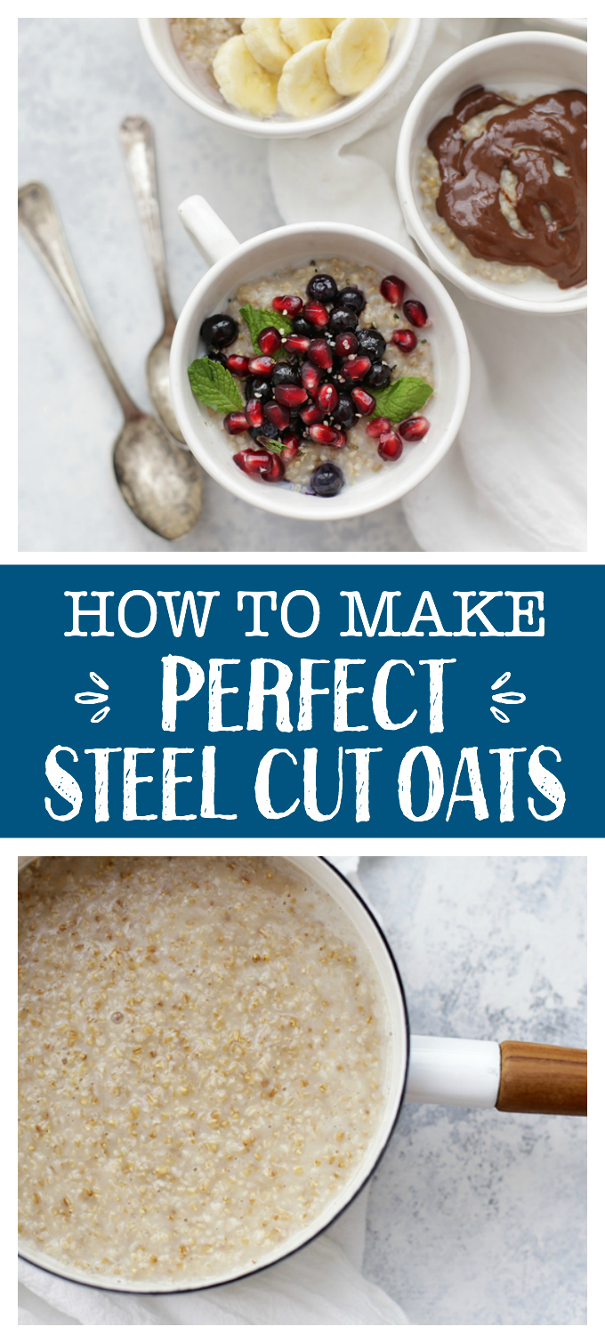 How to Cook Steel Cut Oats - This cozy, healthy breakfast is anything but boring. Learn my secrets for perfect oats every time and check out the list of topping ideas!