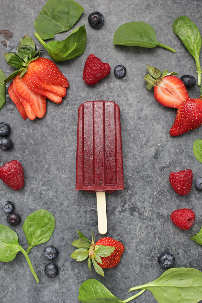 Very Berry Popsicles - These smoothie popsicles are one of our favorites. Secretly healthy and they taste amazing! (gluten free, vegan)