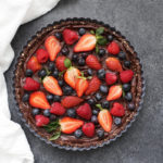 This Vegan Chocolate Berry Tart will steal the show at any dinner or party.
