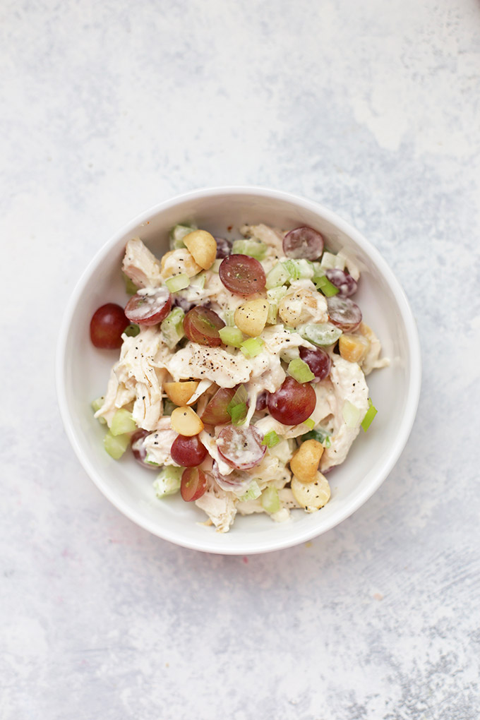 Classic Chicken Salad - This is our favorite classic chicken salad, with celery, grapes, and nuts. Check out 7 more yummy varieties in this Ultimate Guide to Chicken Salad!