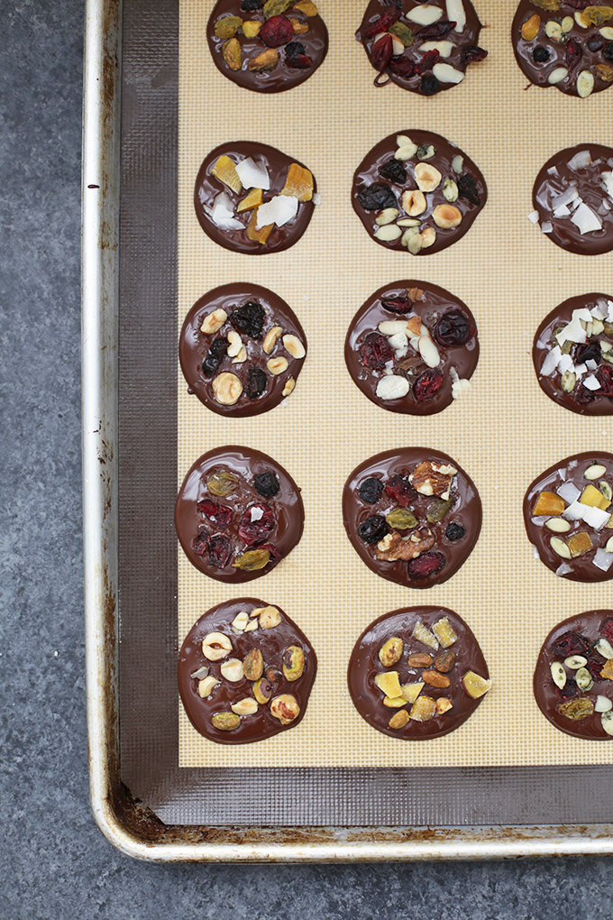 I love healthy desserts! These Trail Mix Chocolate Clusters are AMAZING and made from healthier ingredients.