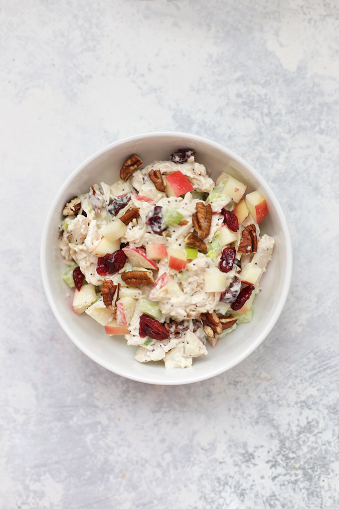 Cranberry Apple Chicken Salad - A classic with a fruity twist, this chicken salad is hard to beat. Check out the 7 other flavors in the Ultimate Guide to Chicken Salad!