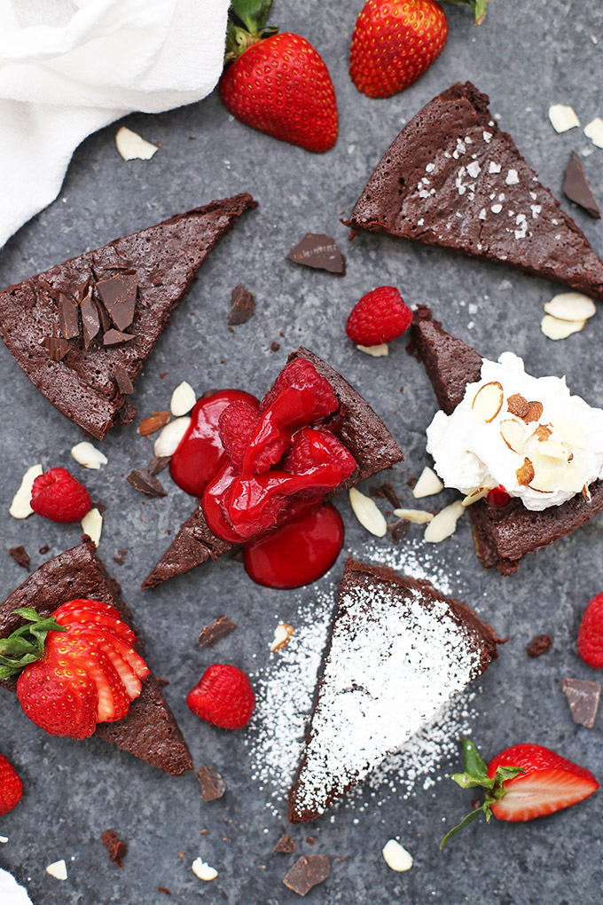 Gluten Free, Paleo, Dairy Free Flourless Chocolate Cake from One Lovely Life