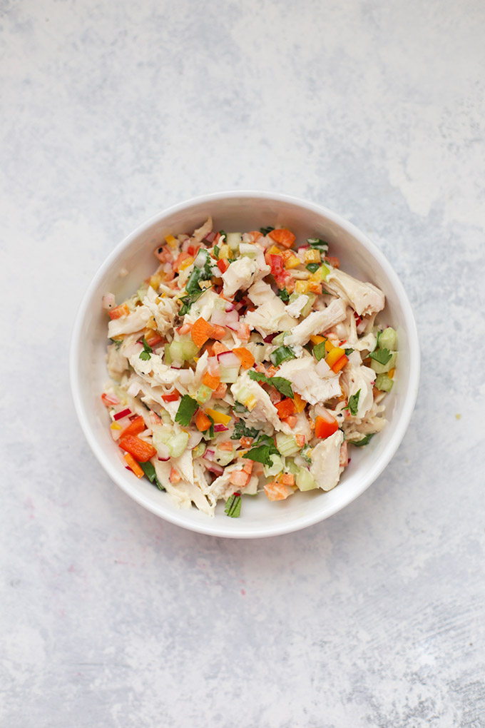 Very Veggie Chicken Salad - I love this one. It's loaded with veggies and the flavor is amazing. So much freshness in one place!