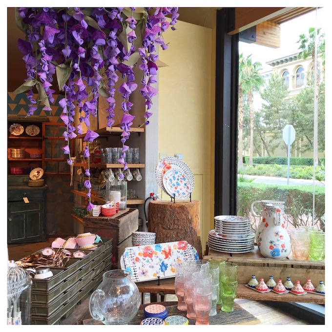 Hanging Wisteria Installation at Anthropologie that inspired my own paper wisteria project!