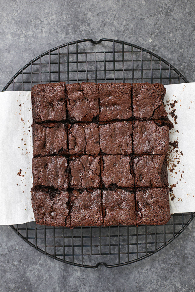 These are the BEST gluten free brownies we've ever tried. Fudgy, rich, and delicious!