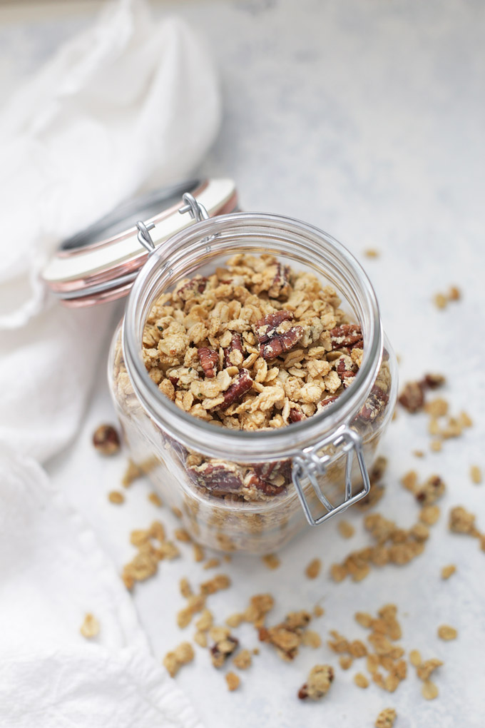 Maple Pecan Granola - Gluten free, vegan, and great on anything!