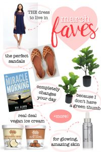 Monthly Favorites - The dress and sandals I'm living in, the book that's changing my life, my favorite faux fiddle leaf, a skincare secret and MORE!