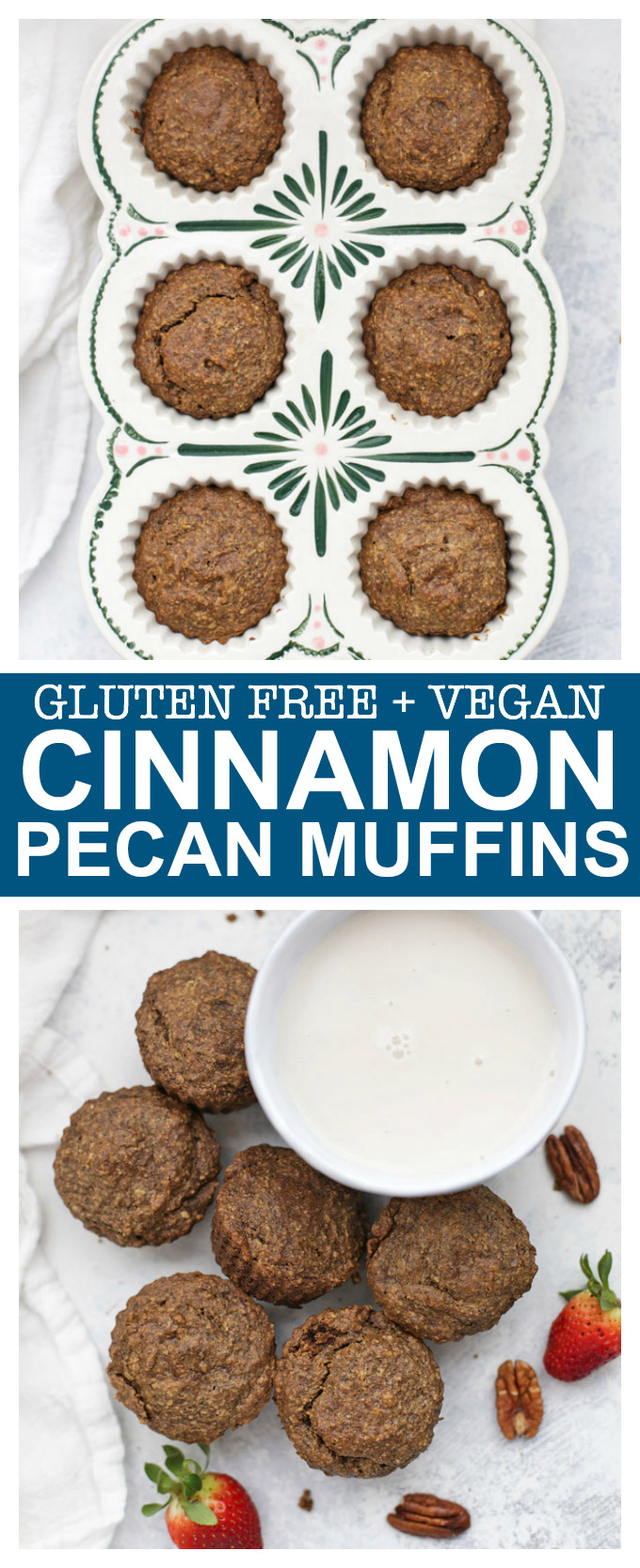 Gluten Free Vegan Cinnamon Pecan Muffins - Made from wholesome ingredients and they taste AMAZING!