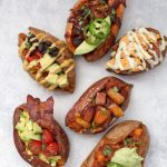6 Amazing Ways to Stuff a Sweet Potato - Baked Sweet Potatoes with all kinds of toppings, from paleo to vegan, and more!