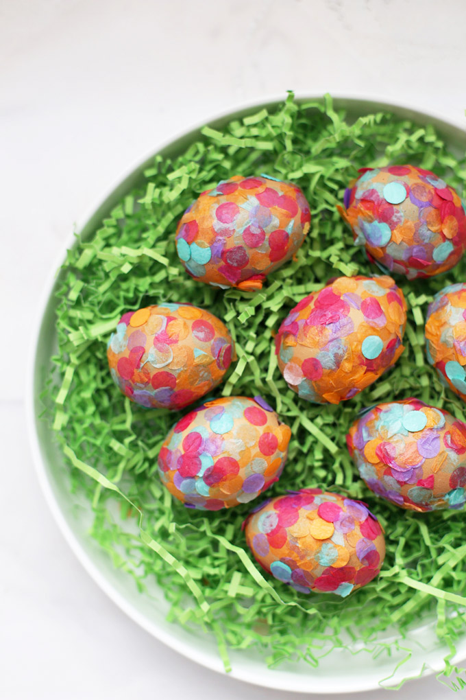 How to Make Confetti Easter Eggs - These hollowed out eggs are secretly stuffed with a surprise!