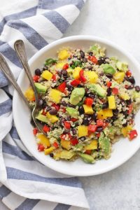 Love this Confetti Quinoa Salad - It's perfect for potlucks, picnics, and barbecues!
