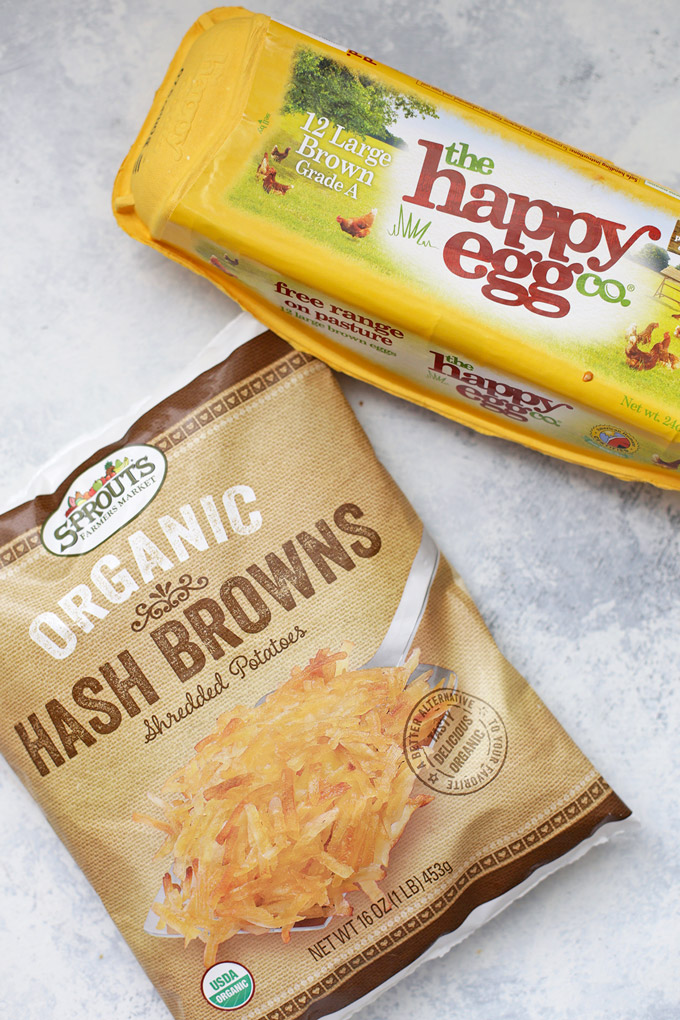 @sproutsfm Hash Browns + @happyeggcousa Eggs ready to be turned into Mini Quiche with Hash Brown Crust. The perfect option for brunch! (gluten free, dairy free)