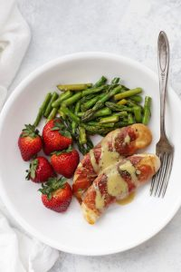 Prosciutto Wrapped Chicken with Honey Mustard Sauce