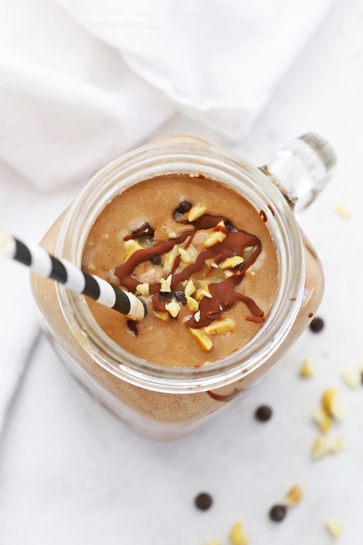Healthy Snickers Shake from One Lovely Life