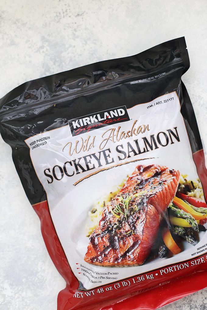 Gorgeous Wild Caught @alaskaseafood Salmon just ready for a glaze! #askforalaska #ic #ad