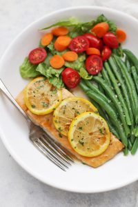 Honey Brown Sugar Glazed Salmon