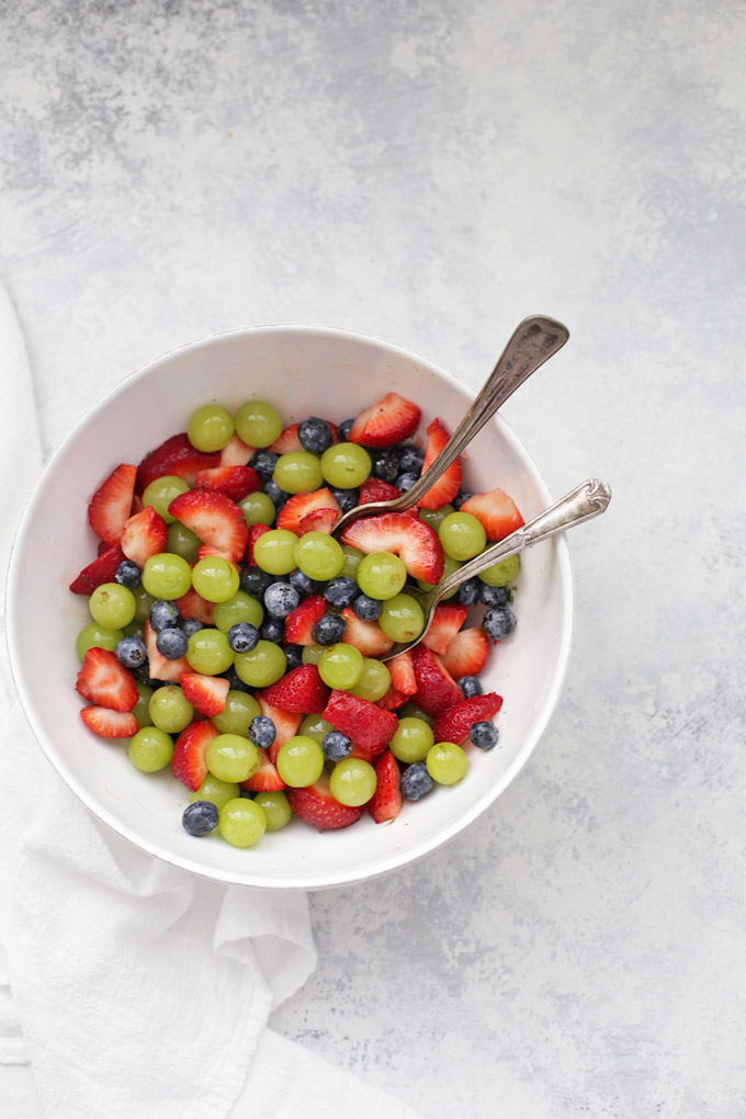 Simple, easy Honey Lime Fruit Salad. The perfect side dish!