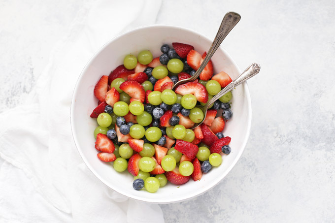Honey Lime Fruit Salad - The sauce is SO good!
