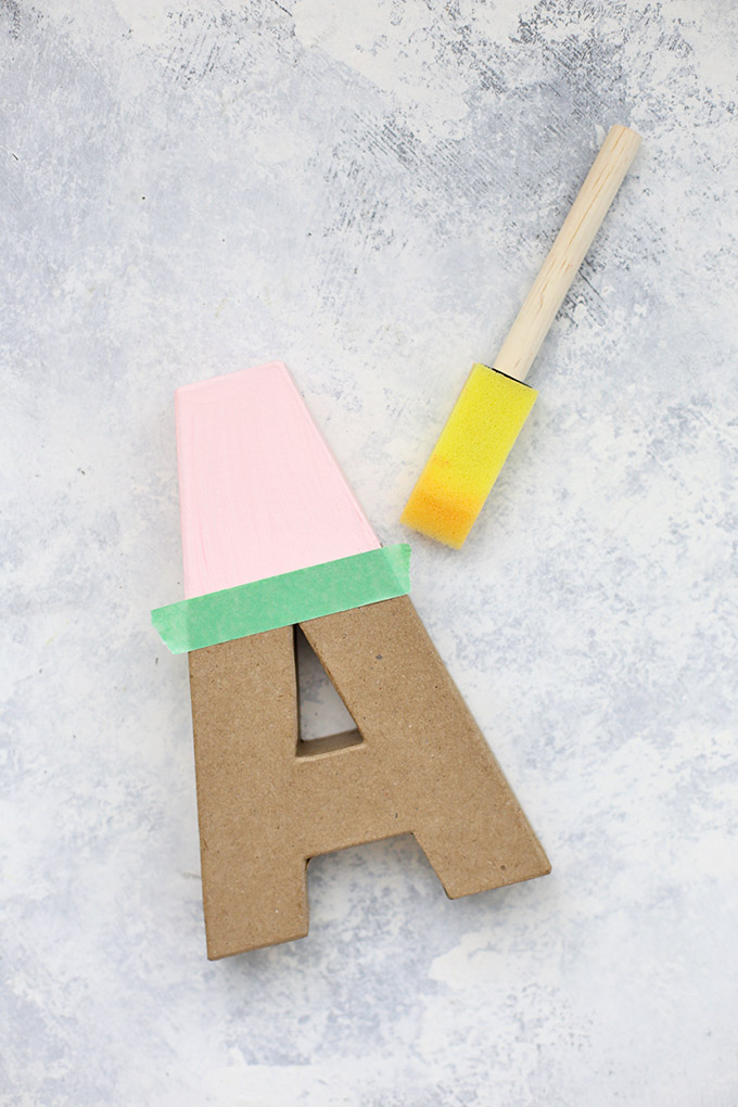 These colorful wall letters are SUCH an easy, cute project!