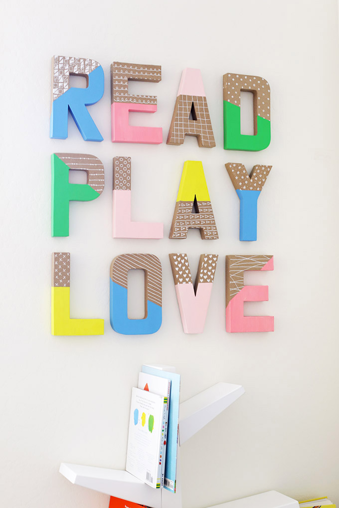 Colorful Wall Letters - So cute in playrooms, bedrooms, and for holidays!