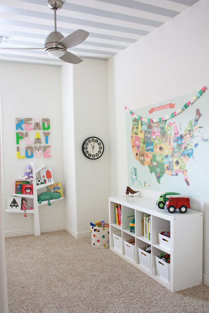 The Playroom - This is probably the happiest room in our house. I love the little pops of color and fun sprinkled throughout!