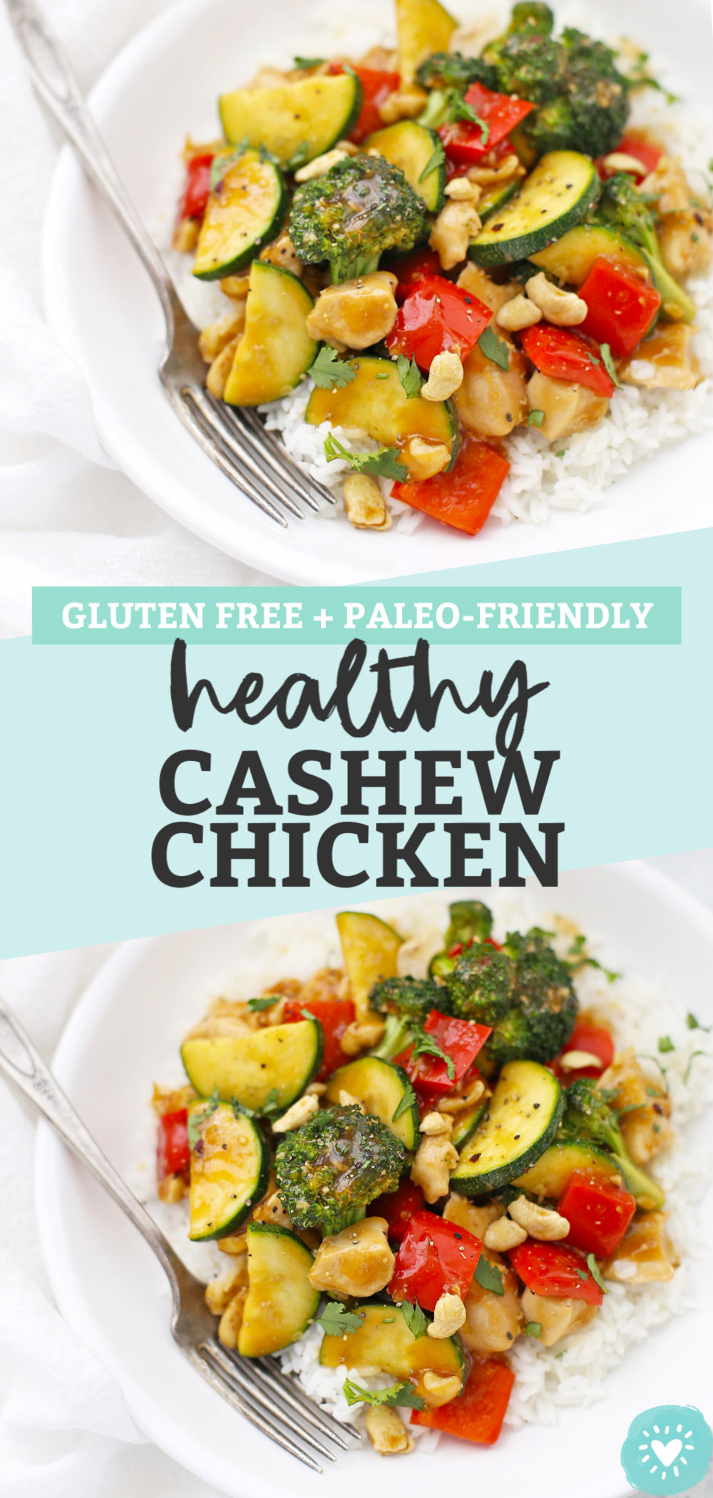 Healthy Cashew Chicken from One Lovely Life (Gluten-Free, Paleo)