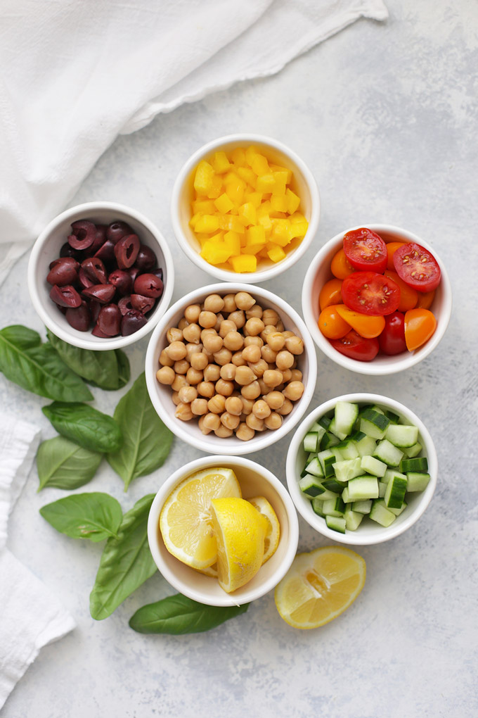 Picky Eater Tip: Break down salads into components to let everyone build their own!