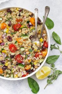 My Big Fat Greek Quinoa Salad - The perfect fresh meal to eat during the warm months! (Gluten free, vegan)