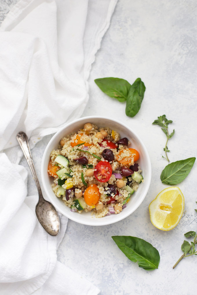 Greek Quinoa Salad - We LOVE the dressing on this one!