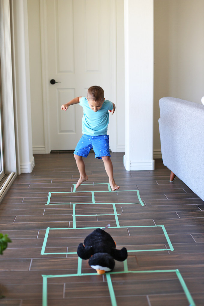 Five Fact Friday - Getting creative in this hot weather with painter's tape hopscotch!