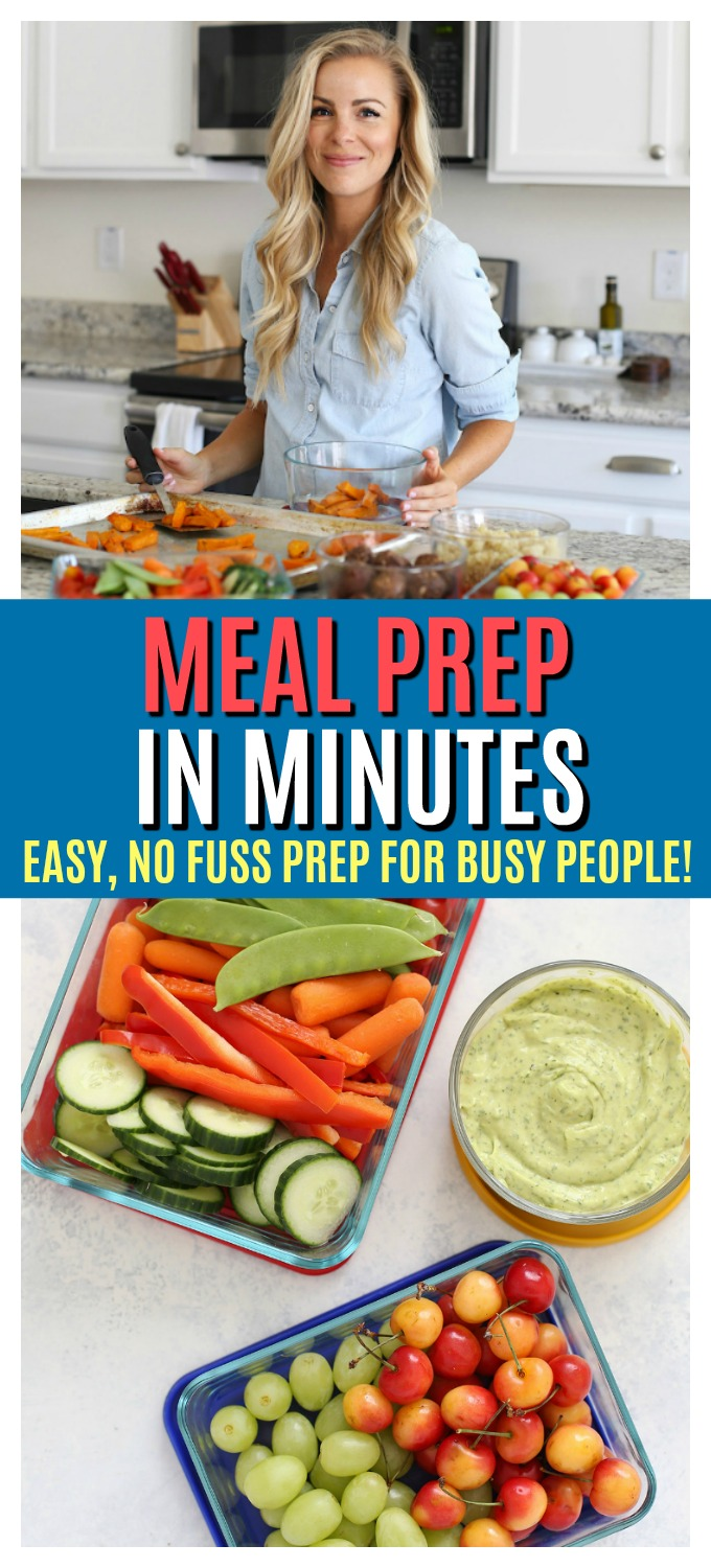 Meal Prep in Minutes - Meal prep doesn't have to be long, hard, or crazy. Here are all my best tips for making it fast, easy, and delicious!