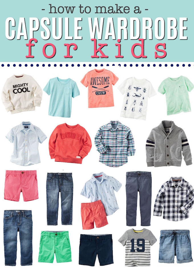 Capsule Wardrobe for KIDS! Makes getting dressed on school mornings so easy!
