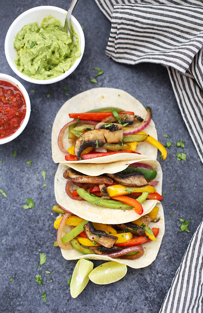 Sizzling Vegan Fajitas - These veggie-packed fajitas are so flavorful and easy!