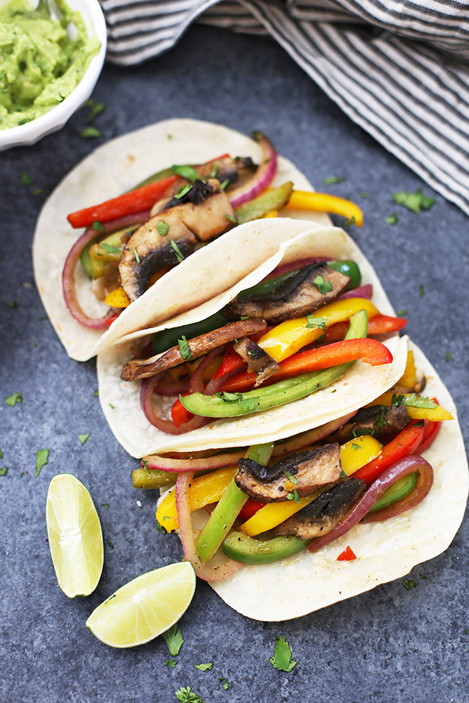 Sizzling Veggie Fajitas - Packed with color and flavor, these are so good!