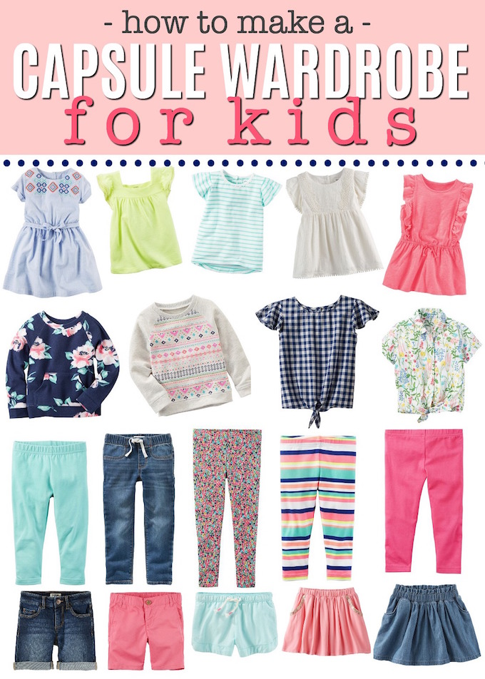 How To Make A Capsule Wardrobe For Kids • One Lovely Life