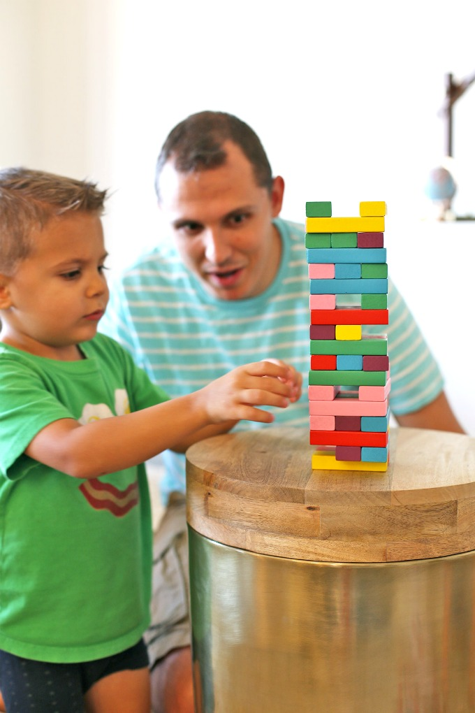 Five Fact Friday - Guess how many games of rainbow Jenga we've played this week.... so many. That's how many.
