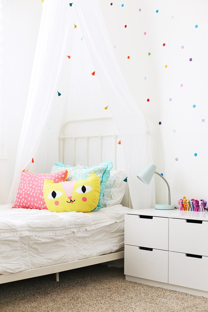 We gave Sophie's room a colorful confetti makeover!