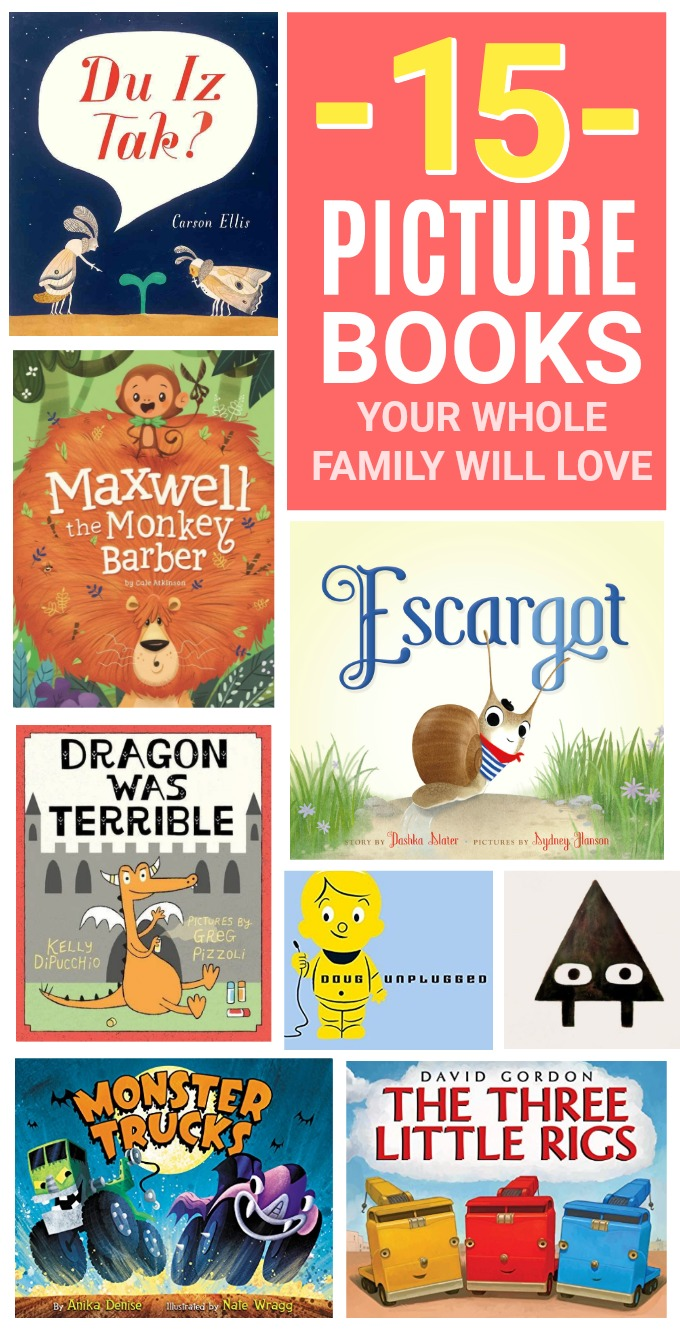 15 Picture Books Your Whole Family Will Love! These funny picture books have awesome illustrations, great storytelling, and even some hidden secrets!