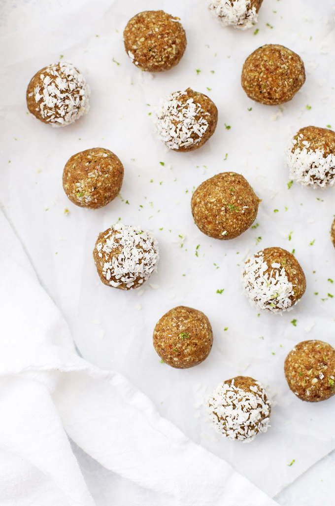 Nut Free Coconut Lime Energy Bites - These allergy friendly energy bites are perfect for healthy snacks! My kids love them!
