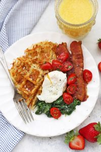 Hash Brown Waffles are a perfect breakfast or brunch idea! Naturally gluten free, dairy free, and Whole30 approved!