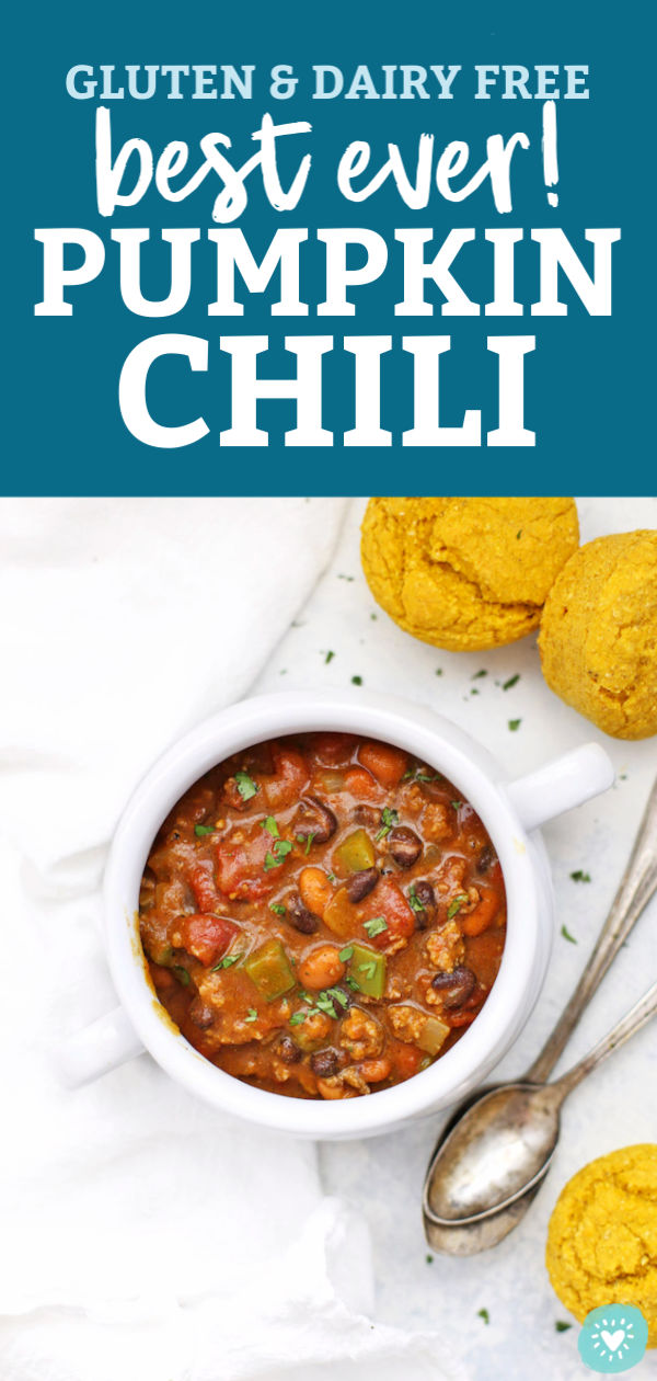 The BEST EVER Pumpkin Chili from One Lovely Life